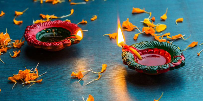 diwali candle offerings