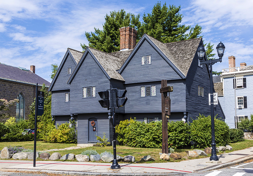 salem witch house halloween