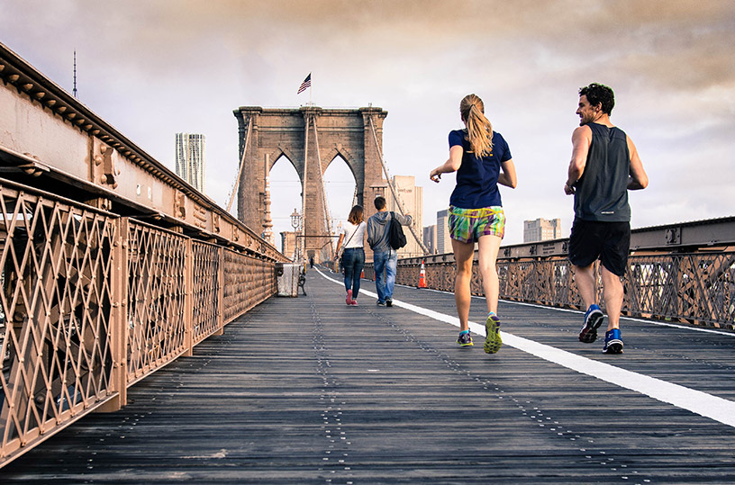 running along brooklyn bridge
