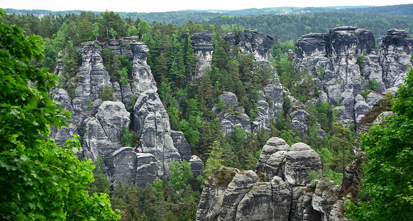 Czech Republic rock formations