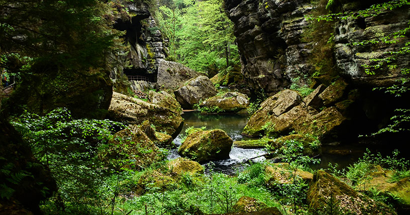 czech republic gorge walk