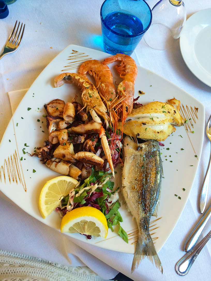 seafood in italy