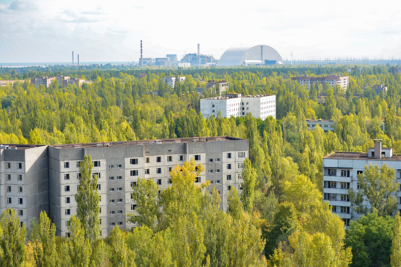 view of Pripyat