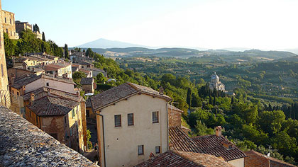 The view of vineyards all over Montepulciano are just an added bonus for this wine hotspot.