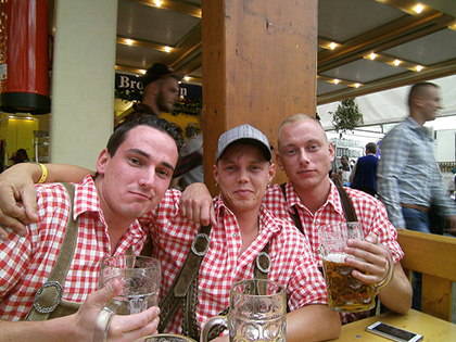 With old friends or new, spending some time in Germany's biergartens is always a fun time