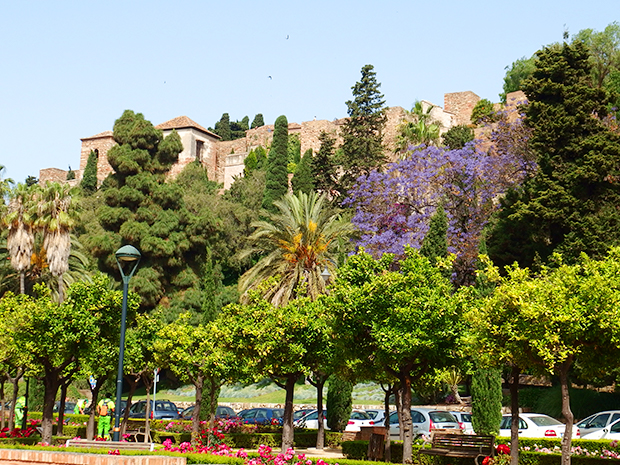 alcazaba from park