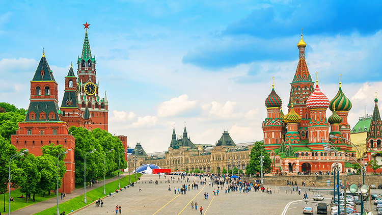 Red Square in Moscow Russia